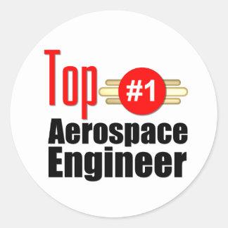 Ingeniero aeroespacial superior pegatina