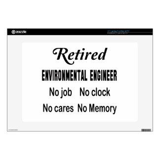 Ingeniero ambiental jubilado ningún trabajo ningún 38,1cm portátil calcomanía