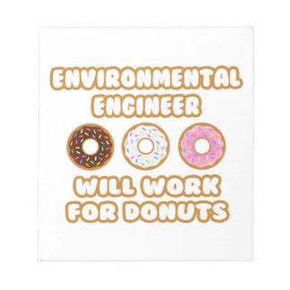 Ingeniero ambiental. Trabajará para los anillos de Blocs De Papel