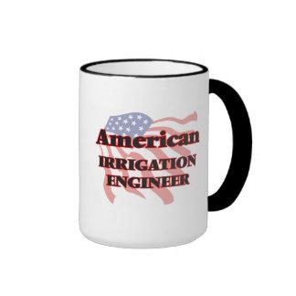 Ingeniero americano de la irrigación taza a dos colores