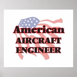 Ingeniero americano de los aviones póster