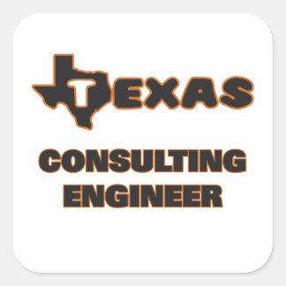 Ingeniero asesor de Tejas Pegatina Cuadrada