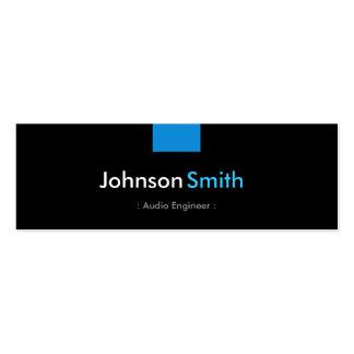 Ingeniero audio - acuerdo azul de la aguamarina plantillas de tarjeta de negocio