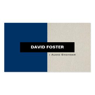 Ingeniero audio - elegante elegante simple tarjetas de visita