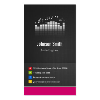 Ingeniero audio - innovador creativo superior tarjetas de visita
