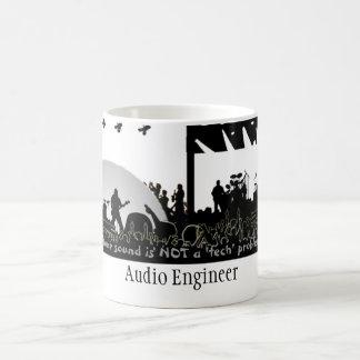 """Ingeniero audio - """"no un problema de la tecnología taza básica blanca"""