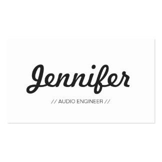 Ingeniero audio - sucinto simple elegante tarjetas de visita