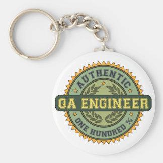 Ingeniero auténtico del QA Llavero Redondo Tipo Pin