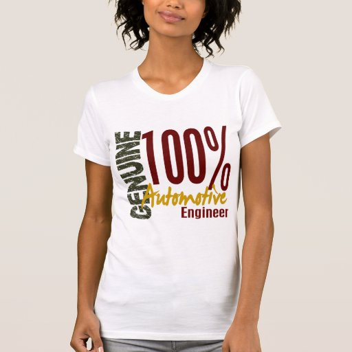 Ingeniero automotriz auténtico camiseta