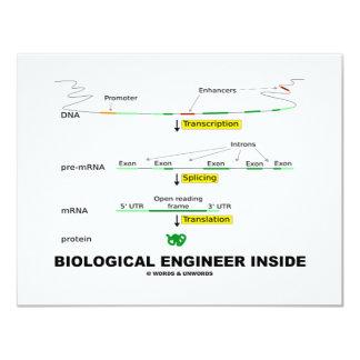 """Ingeniero biológico dentro invitación 4.25"""" x 5.5"""""""