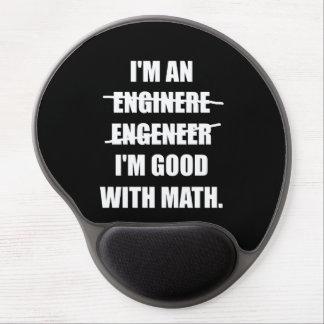 Ingeniero bueno con matemáticas alfombrillas con gel