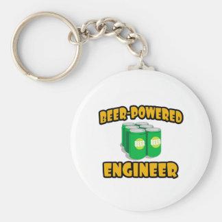 Ingeniero Cerveza-Accionado Llavero Redondo Tipo Pin