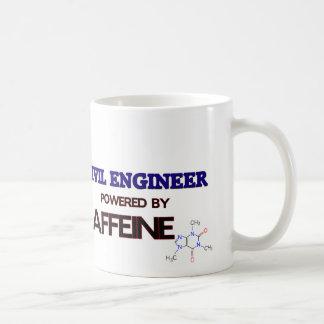 Ingeniero civil accionado por el cafeína taza de café