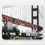 Ingeniero civil alfombrilla de ratones