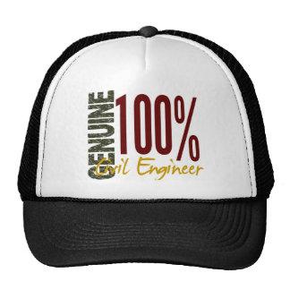 Ingeniero civil auténtico gorras