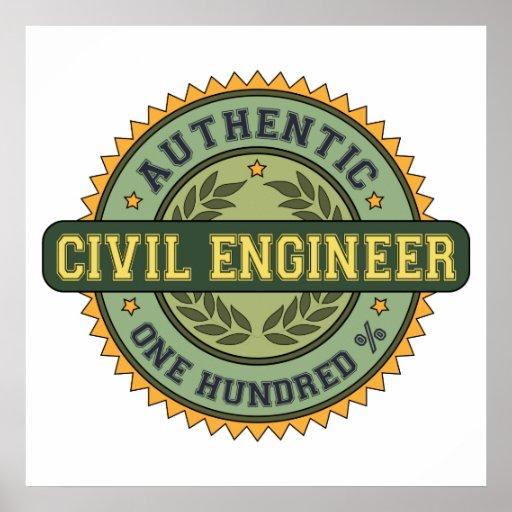 Ingeniero civil auténtico posters