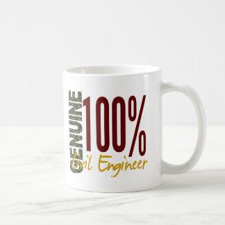 Ingeniero civil auténtico tazas