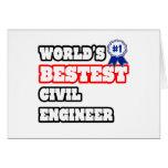 Ingeniero civil de Bestest del mundo Tarjeta