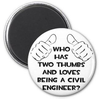 Ingeniero civil de dos pulgares… imanes