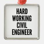Ingeniero civil de trabajo duro ornato
