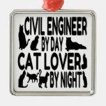 Ingeniero civil del amante del gato ornamentos de reyes