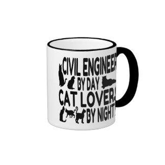 Ingeniero civil del amante del gato taza a dos colores