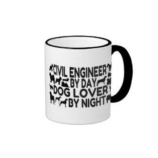 Ingeniero civil del amante del perro del día por n taza de café