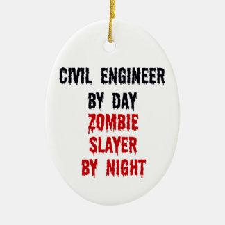 Ingeniero civil del asesino del zombi del día por  ornamentos de reyes magos