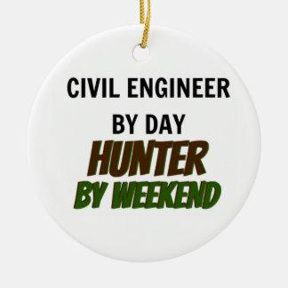 Ingeniero civil del cazador del día por fin de sem ornamentos de reyes magos