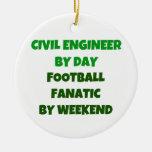 Ingeniero civil del fanático del fútbol del día po ornato