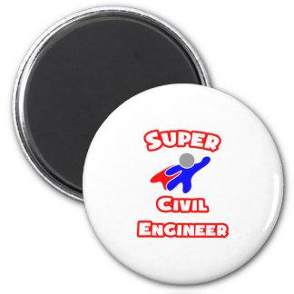 Ingeniero civil estupendo imán redondo 5 cm