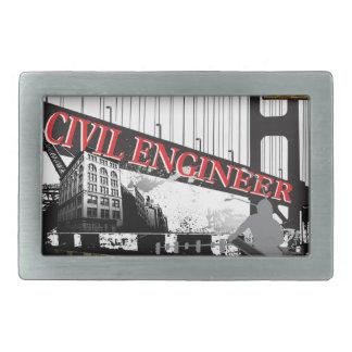Ingeniero civil hebilla cinturón rectangular