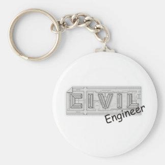 Ingeniero CIVIL Llavero Personalizado