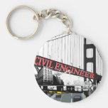 Ingeniero civil llaveros