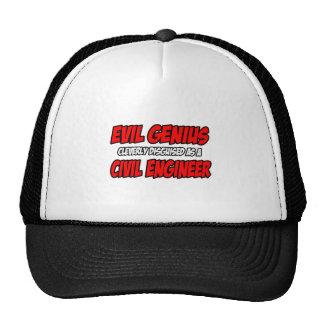 Ingeniero civil malvado del genio… gorra