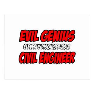 Ingeniero civil malvado del genio… tarjetas postales