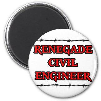 Ingeniero civil renegado imán redondo 5 cm