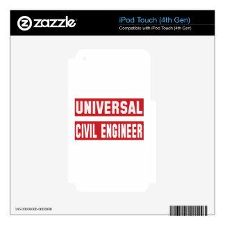 Ingeniero civil universal calcomanías para iPod touch 4G