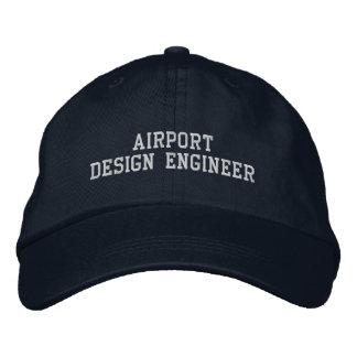 Ingeniero de diseño del aeropuerto gorra de béisbol bordada