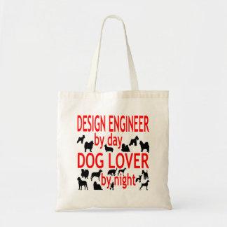 Ingeniero de diseño del amante del perro bolsas lienzo