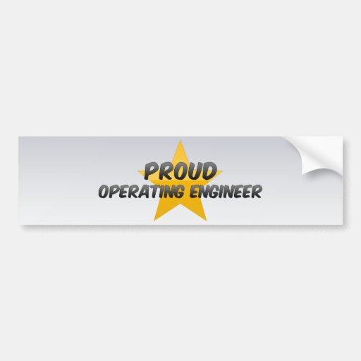 Ingeniero de funcionamiento orgulloso pegatina de parachoque