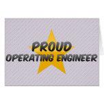 Ingeniero de funcionamiento orgulloso tarjeta