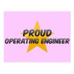 Ingeniero de funcionamiento orgulloso tarjetas postales