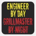 Ingeniero de Grillmaster con amarillo
