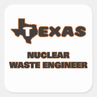 Ingeniero de la basura nuclear de Tejas Pegatina Cuadrada