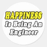 Ingeniero de la felicidad… etiquetas redondas
