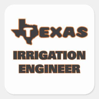 Ingeniero de la irrigación de Tejas Pegatina Cuadrada