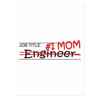 Ingeniero de la mamá del trabajo tarjetas postales