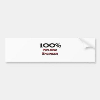 Ingeniero de la soldadura del 100 por ciento etiqueta de parachoque