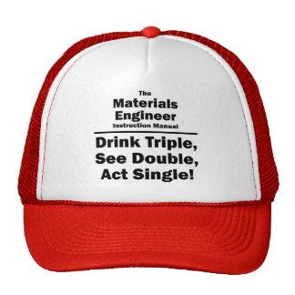ingeniero de los materiales gorro